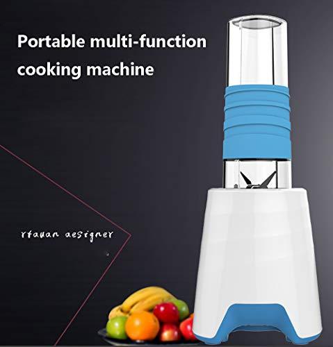 Küchenmaschine Multifunktional, Mixer für Babykostzubereitung mit 300W Reinkupfermotor, Zwei tragbare Safttassen Geeignet zum Entsaften, Hackfleisch, Mahlen