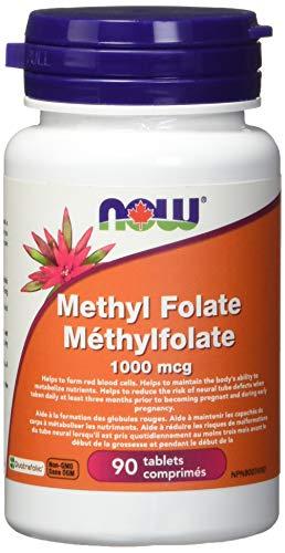 NOW Methyl Folate 1000mcg 90 Tablets, 90 g