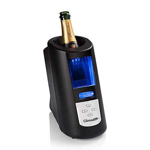 CLIMADIFF Echanson2 Enfriador de Botellas, Biblioteca de 30 temperaturas para Poner Vino y champán a Temperatura de degustación