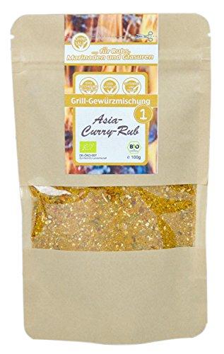 direct&friendly Bio Asia Curry Rub im Nachfüllpack, 2er Pack (2 x 100 g)