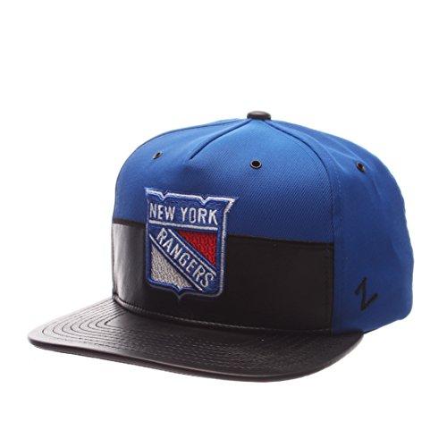 Zephyr NHL New York Rangers Mens Anarchy Snapback Hat, Adjustable, Gray/Black