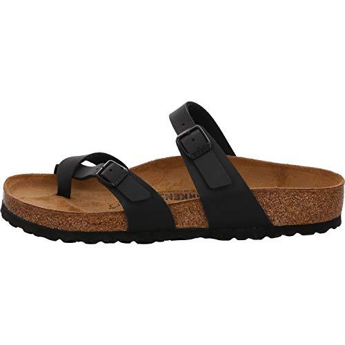 Birkenstock Schuhe Mayari Birko-Flor Normal Black (071791) 37 Schwarz