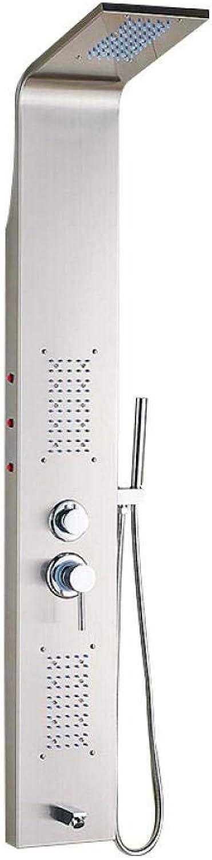 Dusche_304 Edelstahl mit zwei Knpfen mit Lichtern Duschwand f¨1r Badezimmer Europisches Duschset