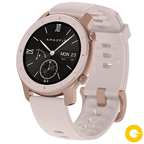 "Amazfit GTR 42mm Reloj Smartwatch Deportivo | 18 días de batería | AMOLED de 1.2"" | GPS + GLONASS | Frecuencia cardíaca Continua de 24 Horas (Android 5.0 e iOS 10.0) – Cherry Blossom Pink"