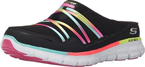 Skechers Sport Women's Air Streamer Fashion Sneaker,Black/Multi,7.5 M US