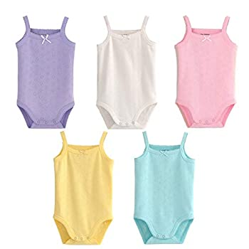 Infant/Toddler Baby Girls Boys Sleeveless Onesies Tank Top Cotton Baby Bodysuit Pack of Summer Baby Clothes Outfit  12-18 Months