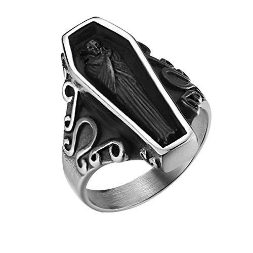 Accesorios masculinos dominantes, exquisito anillo de acero inoxidable, joyería de mano, anillo de joyería con retrato de acero de titanio