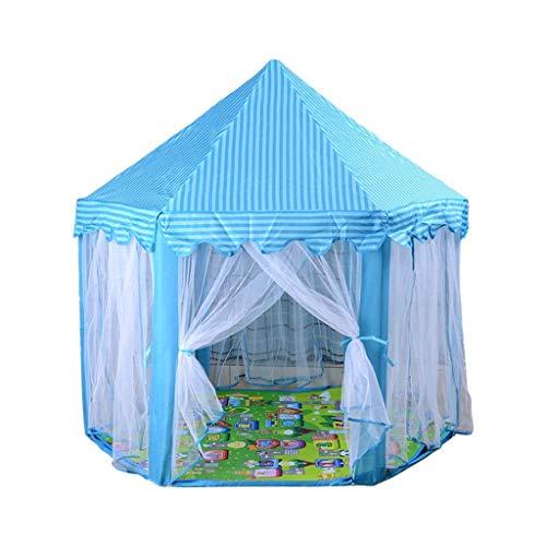 Niños tienda pop-up juego de niños y niñas del castillo interior juguete hexagonal Enviar un regalo de los niños jugar a las casitas tienda Enviar escalada estera infantil casa en casa Tienda de campa