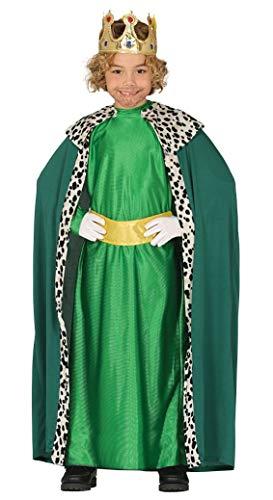 GUIRMA Costume re magio Verde Bambino Melchiorre presepe Vivente