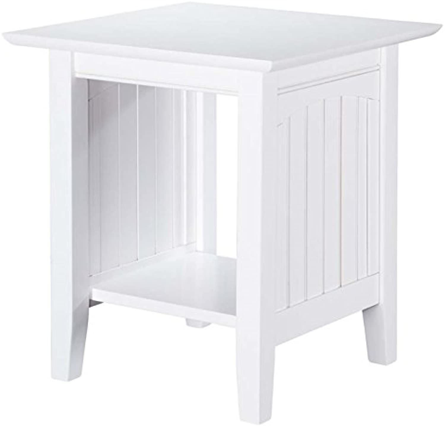 Leo & Lacey End Table in White