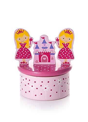Mousehouse Gifts Boîte à Musique Enfants bébés Filles en Bois - thème Princesse Rose Cadeau