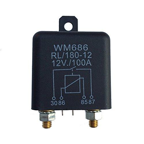 KKmoon 12VDC 100A AMP 2.4W Relais, 1 Stück 4 Stifte Auto Startup-Schalter, Schwer Hochstrom Trennrelais Kann Kontinuierliche Arbeit für Pkw Lkw Kfz