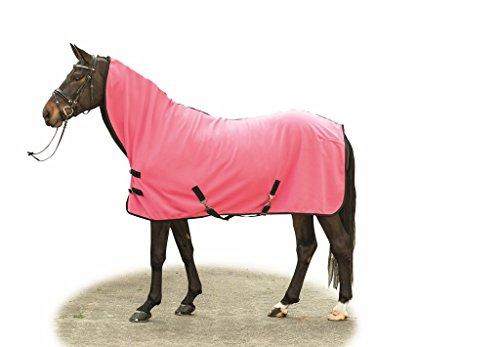 HKM Multifunktionsabschwitzdecke, Rückenlänge 145 cm, pink/schwarz