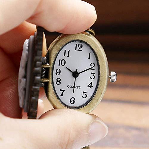 J-Love Reloj Bolsillo Retro, Moda Mujer Reloj Bolsillo Ovalado Cuarzo Retro Vintage...