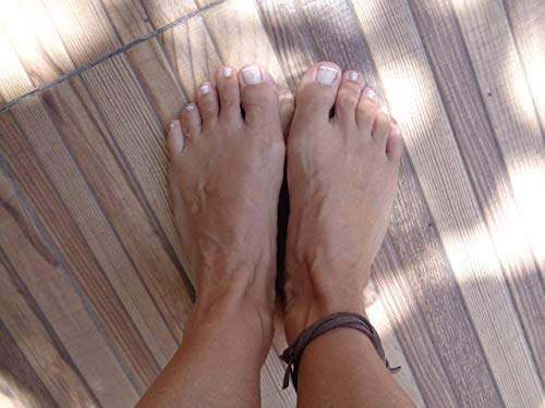 ✿ TOBILLERA ETHNO TRIBAL ✿ terciopelo footstrap marrón