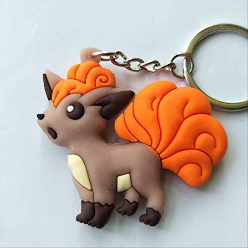 WFQ Schlüsselanhänger 3D Anime Abbildung Keychain Nettes PVC-Taschen-Hängendes Schlüsselketten-GeschenkC22