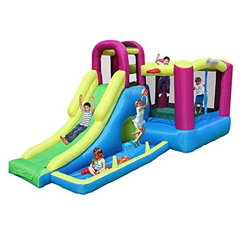 YM963 Castillo Hinchable con el Ventilador, PVC Paño casa de la Despedida tobogán for niños y Adultos (485 * 230 * 223cm) Aire Libre y Deportes