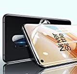Bildschirmschutzfolie für OnePlus 8 Pro (6,7 Zoll), TPU, kratzfest, unterstützt Fingerabdrucksensor, HD, vollständige Abdeckung, kein gehärtetes Glas, 3 Stück