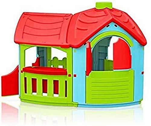 Marian - Plast 300 - 0662 - Kinder - Spielhaus Villa mit Anbau (farblich sortiert)