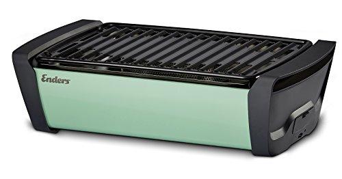 Enders® 1360 Aurora raucharmer Tischgrill, mobiler Holzkohle-Grill, kleiner Grill, rauchfreier Tischgrill, Balkon-Grill, Picknick-Grill, Camping-Grill, Grill mit Belüftung, mint