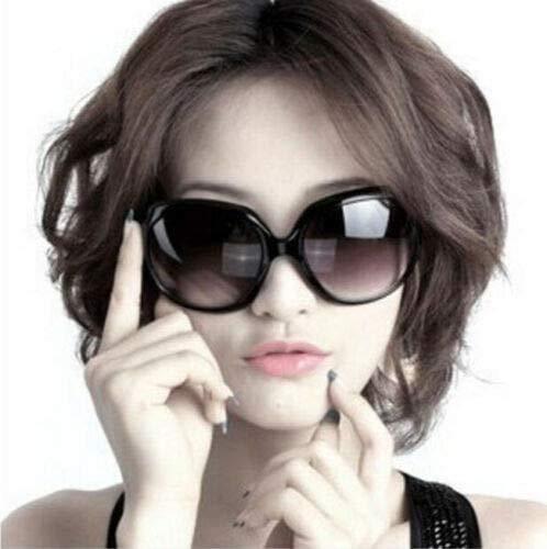 Jackie Onassis Gafas de sol negro brillante cadena enmarcada Jackie Kennedy Jacky O Onasis gafas UV disfraz de moda