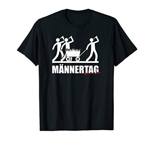 Herren Männertag Vater Bollerwagen Bier Trinken Party JGA T-Shirt