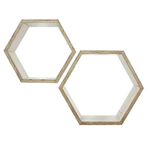 """Estantería de panal de abeja """"roble"""", en juego de 2 unidades."""