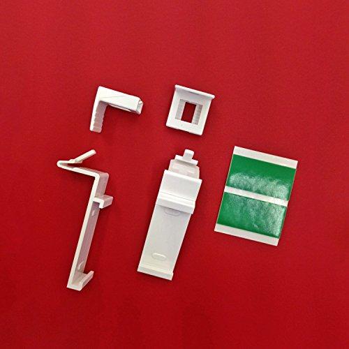 Easy-Shadow - 2 Stück Hochwertige Klemmträger verstellbar für Duo-Rollos / Klemmfix - Rollos / Rollo / Verdunkelungsrollo / Easyfix - Klemmhalter für Fensterrahmen Rahmenstärke 15 mm - 22 mm Montage ohne Bohren - weiß