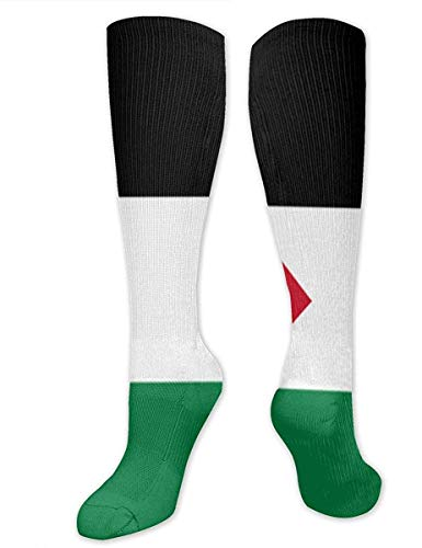 Graphic Tank Flag Knee High Graduated Compression Socks for Women and Men - Best Medical, Nursing, Travel & Flight Socks - Running & Fitness