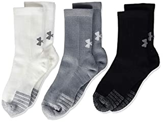 Under Armour Unisex Youth Heatgear Crew,Compression Long Sports Socks, Steel / White / White (035), YLG (B07QZTRR5G)   Amazon price tracker / tracking, Amazon price history charts, Amazon price watches, Amazon price drop alerts