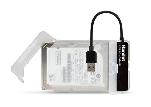 Hamlet Adattatore USB 3.0 to SATA III per collegare hard disk p SSD a pc
