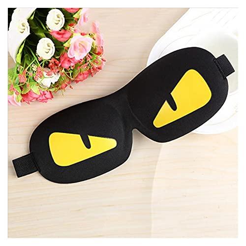 Antifaz para Dormir 1pc Cool Sleeping Eye Mask Mask Nap Dibujos Animados Ojo Sombra Sueño Máscara Mascarilla Black Mask Vendaje en los Ojos para Dormir (Color : Yellow)