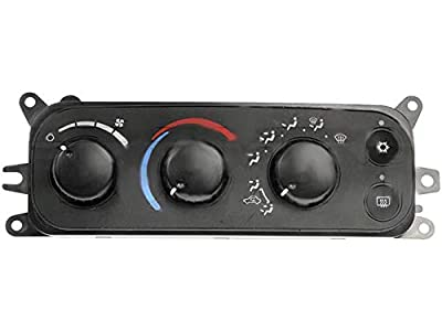 HVAC Control Module with Manual Air Conditioning Controls - Rear Window Defogger - Heated Mirrors - Compatible with 2002-2005 Dodge Ram 1500