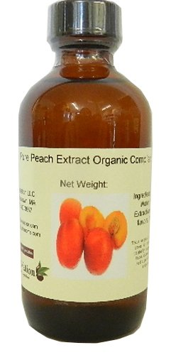 OliveNation Premium Peach Extract, Sugar Free Fruit Flavoring, Natural Flavor, Non-GMO, Gluten Free, Kosher, Vegan - 4 ounces