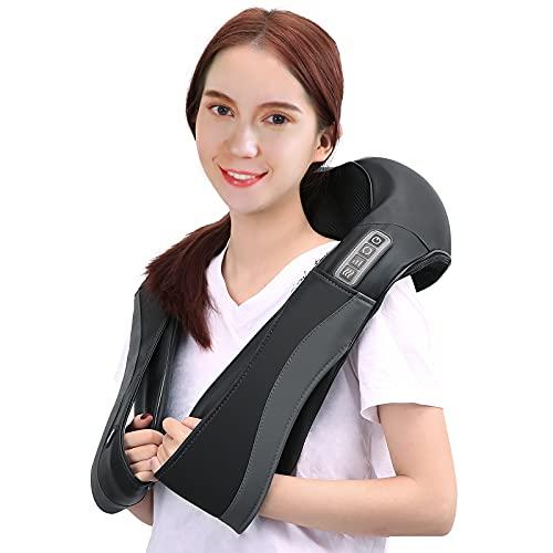 Massagegerät für Nacken Schulter Shiatsu Nackenmassagegerät mit Wärme Vibration Rücken Elektrische Massage Geräte Mit 3 Einstellbaren Geschwindigkeiten Für Haus Büro Auto