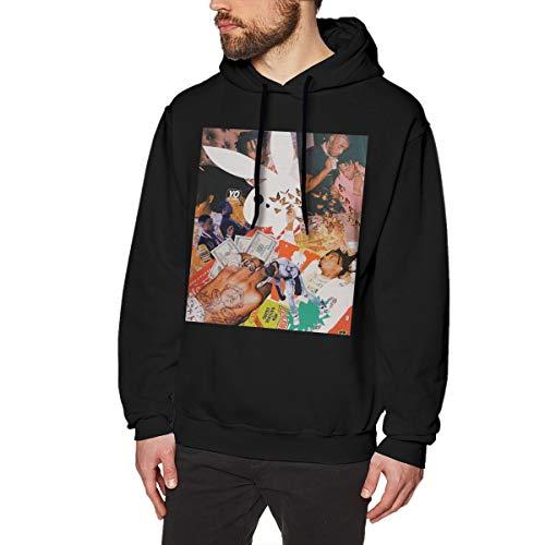 ATONE9 Men's Hoodie Sweatshirt Playboi Poke It Out-Carti Cotton Sweater Black M