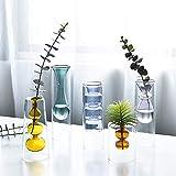 Escultura, Nordic Doble Capa Boda turística Stained Glass Vase hidropónica del florero de la decoración del hogar decoración del Arte del Regalo de cumpleaños, Browm, Long KAIRUI (Color : Browmlong)