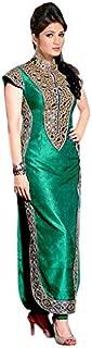1 Stop Fashion Women's Silk Straight Salwar Suit Set