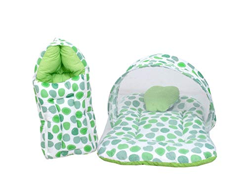 Baby Fly Toddylon Baby Sleeping Bag with Mosquito Net Bed for Baby (0-6 Months) (Green Polka)