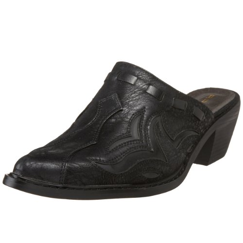 Roper womens 1555 Western clogs and mules shoes, Black, 9.5 US