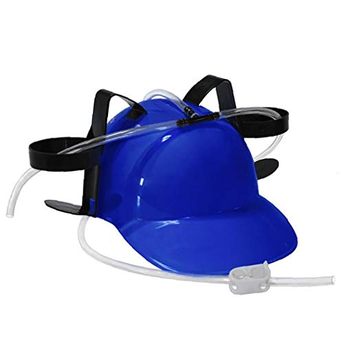 Unicoco Cappello Di Paglia Bere Portacasco Eaters E Bevitori Can Per Birra E Soda Halloween Party Games Football Fun Natale (blu)