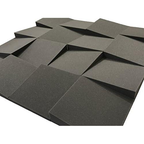 Advanced Acoustics, pannelli fonoassorbenti in schiuma per insonorizzazione acustica, coefficiente di insonorizzazione 0,60 NRC, 16 piastrella da 30,5 cm (1,48 m2)