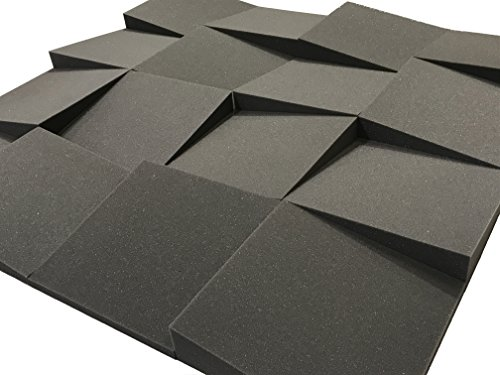 Lot de 16 dalles de traitement acoustique de 30,5 cm en mousse Advanced Acoustics Slider - 1,48 m²
