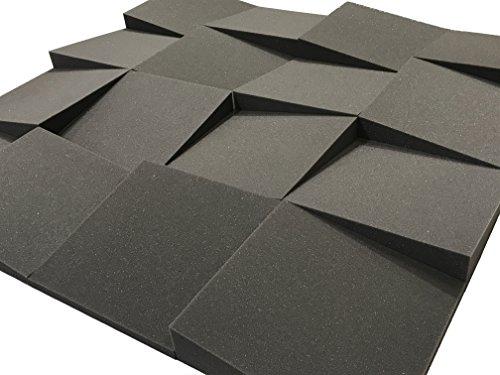 Advanced Acoustics Slider Akustik-Schaumstofffliesen für Studios, Packung mit 16Fliesen (1,48 Quadratmeter), 30,5cm
