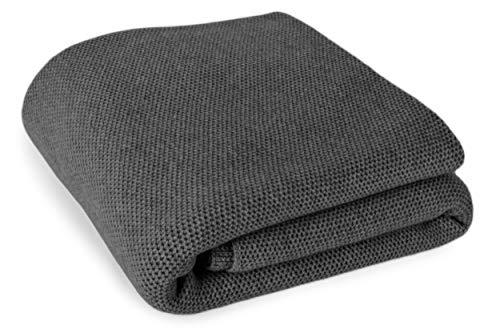 Love Cashmere - Coperta 100% cashmere con motivo a nido d'ape, lavorazione personalizzata, diversi colori, realizzata a mano in Scozia grigio scuro Medium