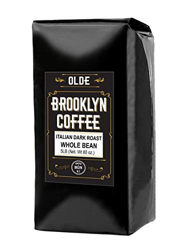 ITALIAN Dark Roast Whole bean – 5 LB Extra Strong Coffee - The World's Strongest Coffee Beans | Classic Black Coffee, Breakfast, House Gourmet, Italian Espresso- Roasted in New York