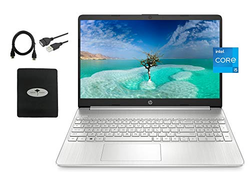 2021 Newest HP 15.6 FHD IPS Flagship Laptop, 11th Gen Intel 4-Core i5-1135G7(Up to 4.2GHz, Beat i7-1060G7), 16GB RAM, 512GB PCIe SSD, Iris Xe Graphics, Fast Charge, WiFi, Lightweight,w/GM Accessories