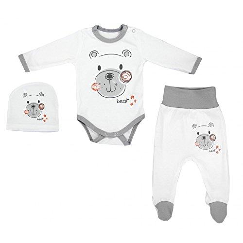 TupTam Baby Unisex Bekleidungsset mit Aufdruck 3 TLG, Farbe: Bärchen, Größe: 74
