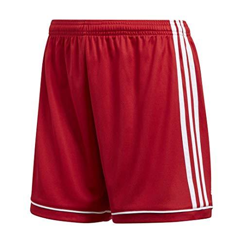 adidas Squadra 17 - Pantaloncini da Donna, Donna, Pantaloncini, S1706GHTM400W, Rosso e Bianco, XL
