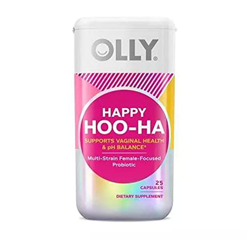 Olly Happy Hoo-Ha Women Probiotic 25 Capsules! Formulated with Multi-Strain Female-Focused Probiotic! Supports Vaginal Health and pH Balance! Choose from 1 Pack, 2 Pack Or 3 Pack! (1 Pack)